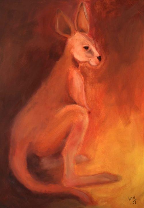 Oil Painting Kangaroo